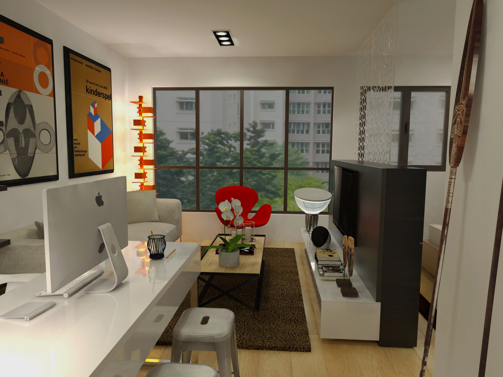 Designfantastico fernvale riverwalk 2 room for singles for Interior design for 2 bed flat